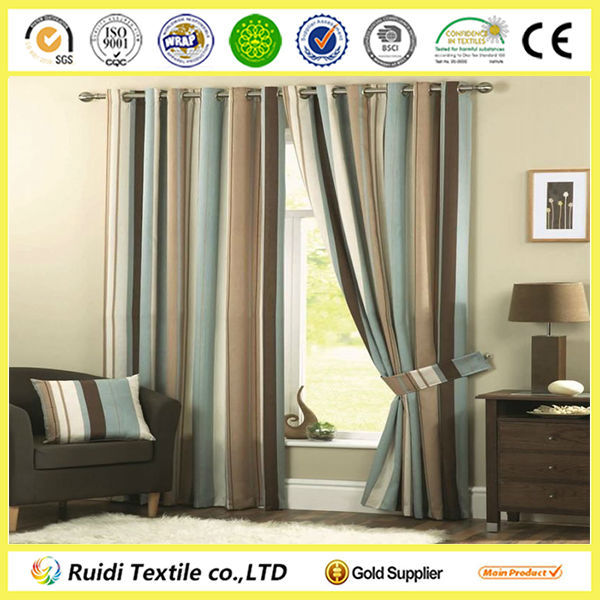 Luxury Modern Fully Lined Eyelet Curtain, High Quality Window Curtain