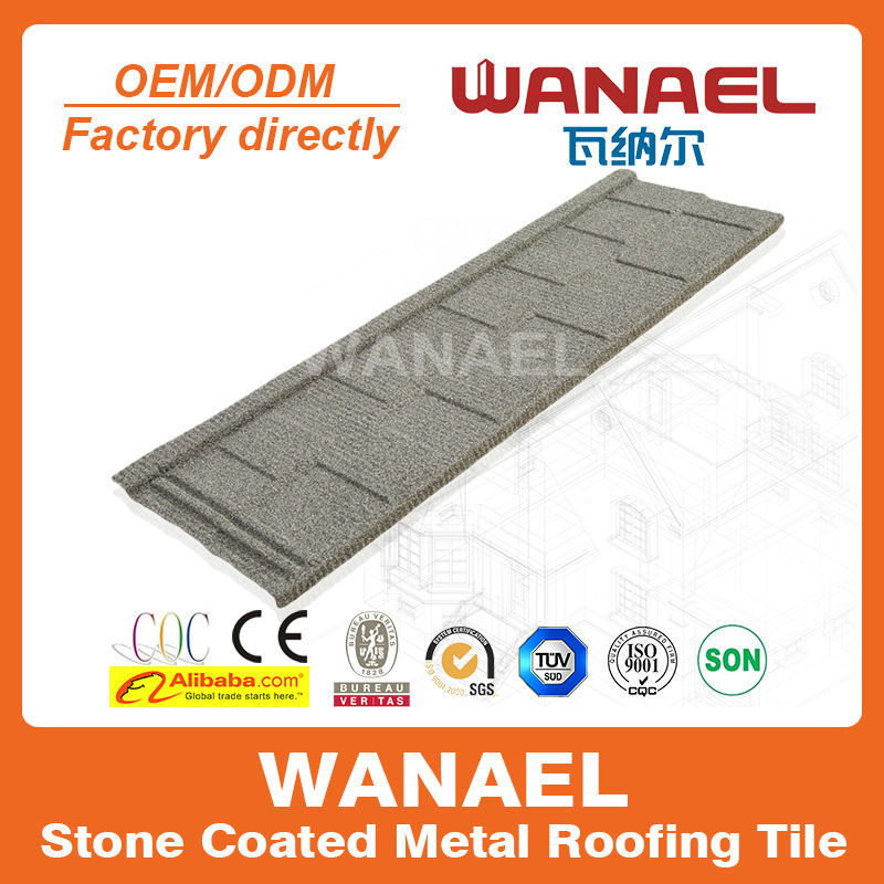 Shingle Factory sale Wanael stone coated metal roof tile/best selling products/louver roof