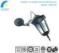 2017 Hot product Aluminum die-casting solar outdoor wall light LED garden hanging lamp