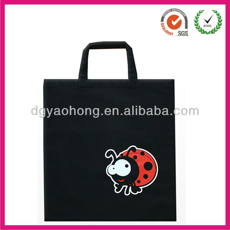 Black ladybug sublimation Cotton Bag tote