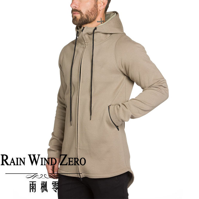 2016 OEM service new style gym wear plain jacket with zipper for men
