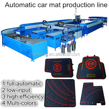 Automatic multicolor car floor mat machine/produce line