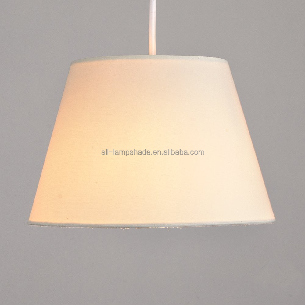 Modern Cone Shape Fabric Ceiling Pendant / Table Lamp Light Shade, Customized Size and Colors