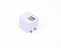 High quality mini finger colorful single usb port universal 2 in 1 car charger with wall charger
