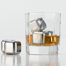 Make each sip chilling down stainless steel whiskey stones
