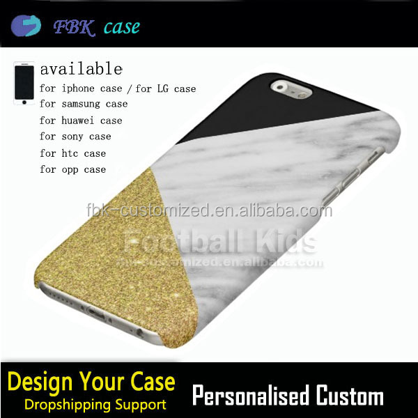 For iphone Marble Gold Cases,High Quality Gold Marble PC Mobile Phone Case For Iphone 5/6/7 Marble Gold