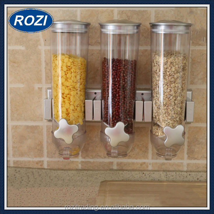 Dry Food Storage Coffee Bean Seed Canister Triple Snack Container