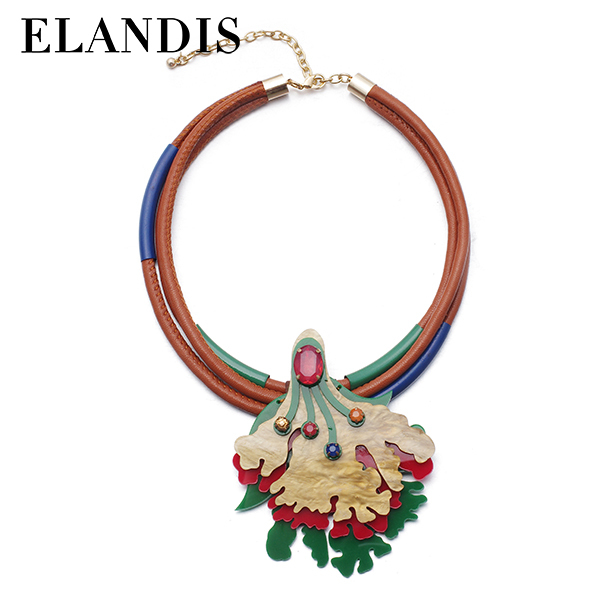 hot sale great promotion leather necklace new NL13317