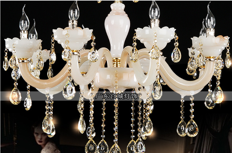 Indoor lighting hotel luxury crystal chandelier
