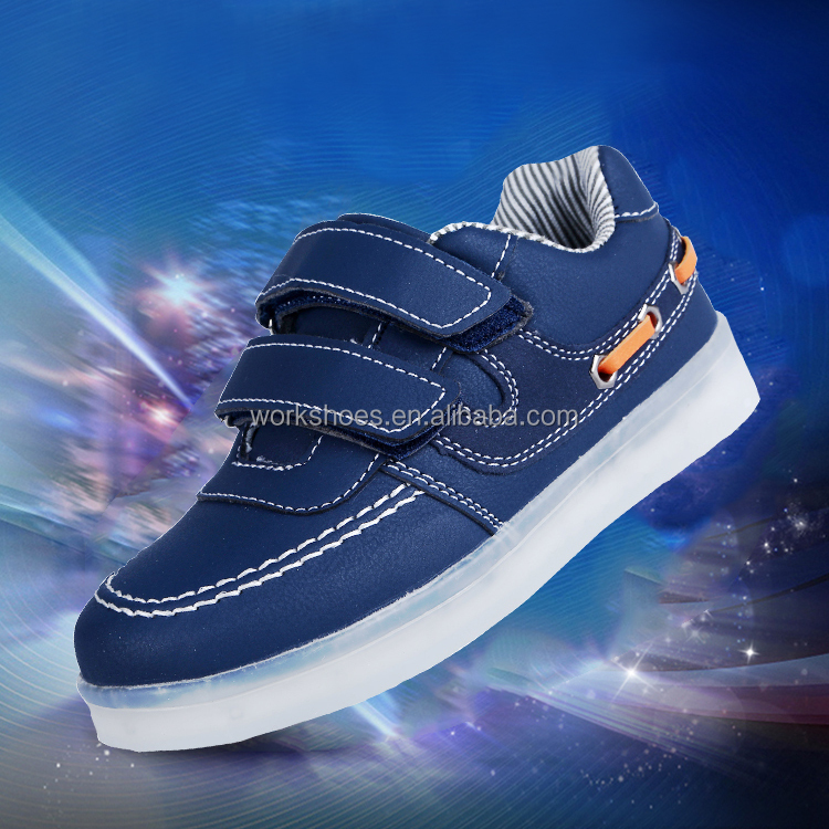 Luminous led light up canvas shoes & 2016 new arrival kids shining shoes