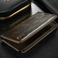 Wholesale leather for Samsung Note 5 wallet case cell phone case