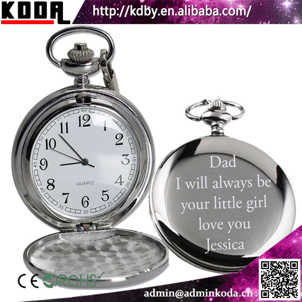 Best Gift Personalised Engravable Custom Made Pocket Watch