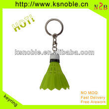 custom best quality lively badminton sports keychain