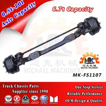 9t Semi Trailer Air Suspension Lift Front Wheel Steer Axle