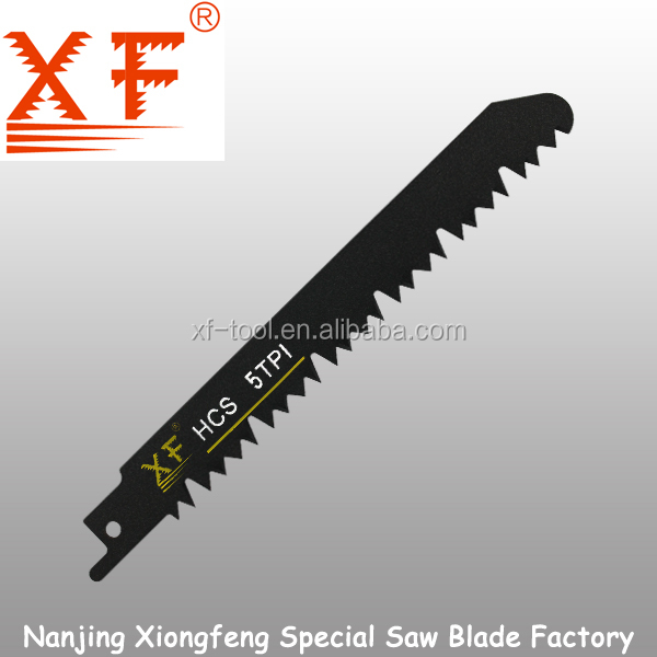 Ground teeth Wood cutting 5TPI HCS Sabre saw blade :XF-S1531N