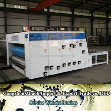 chain feeder water ink flexo boxes printer creaser slotter for corrugated carton