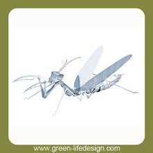 Garden Decorative 3D metal animal model/small mantis craft for kid' gifts