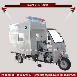 Guangzhou Kavaki 250cc gas passenger tricycle half closed ambulance car with interphone