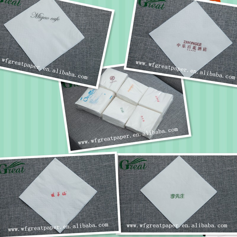 Disposable paper napkin brands 1/4 fold 23*23cm soft paper