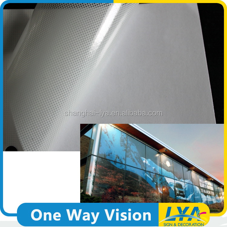 China gold supplier promotional vinyl film perforated one way vision