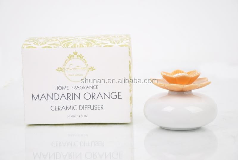 home fragrance/ 30ml ceramic diffuser with flower ceramic