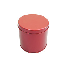 Fashionclubs Retro England Metal Tinplate Hinge Top Tin Cans Container Box for Tea Candy Sugar Coins Storage