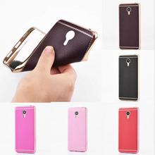 New Arrivals Plating Soft TPU Leather Phone Case For MeiZu MX6 Meilan E note 3 max meilan 5 ETC03