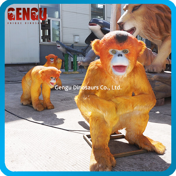 Custom High Simulation Rubber Animal Model Animatronic Monkey