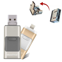 3 in 1 Metal OTG USB Flash Drive Menory Stick For Android and IOS Phone for iPad for iPod for Samsung and HTC Android Phone