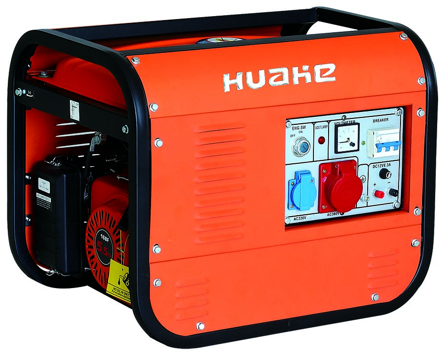 2kw gasoline generator 3 phase electric start with battery for European market