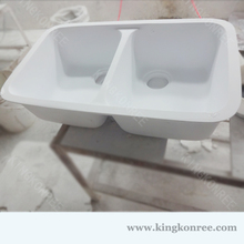 Quality man made PMMA resin small double kitchen sinks