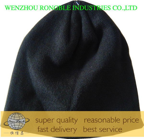 Excellent quality promotional dark color acrylic beanie