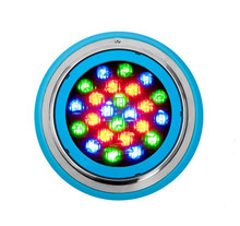 ac dc12v Surface mounted IP68 waterproof swimming pool led underwater light 6W <strong>RGB</strong> with RF remote control