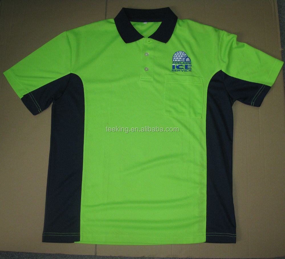 Custom Cheap Quick Dry Polyester Contrast Color Polo Shirt