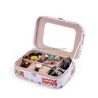 Custom velvet paper leather cardboard wooden jewelry box for ring