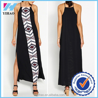 Yihao 2015 New Fashion ladies long casual dresses pictures muslim women Simple Dresses Plain Color long maxi dress