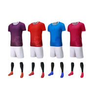 New Style Plain Soccer Training Uniforms,Red Soccer Jersey