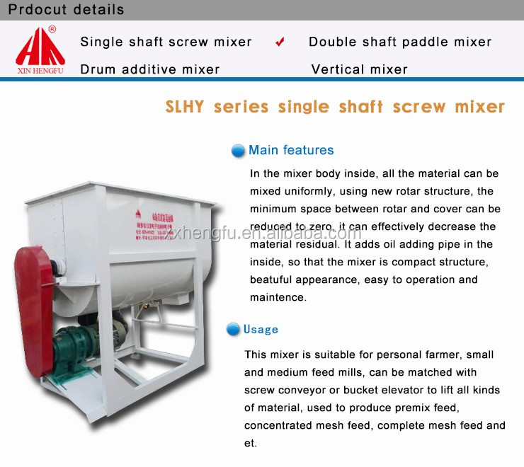 Factory supply animal fodder making machine poultry feed mixer grinder machine for sale