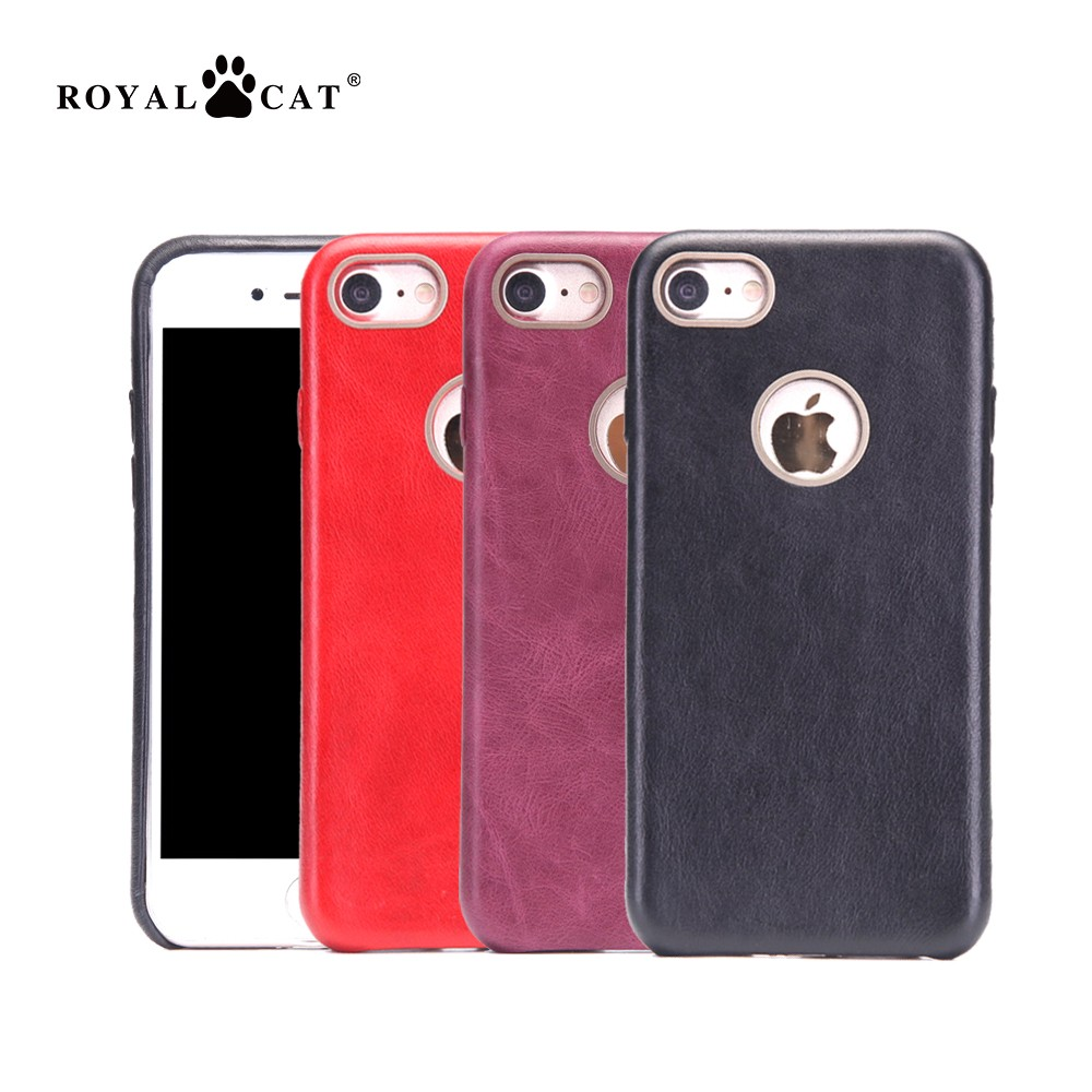 High end quality leather phone case fake for apple iPhone 7 ultral slim mobile accessories