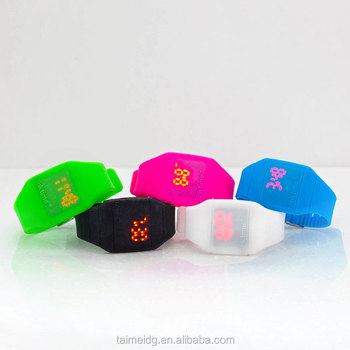 fashion! hot! blinking silicone led watches/candy watch