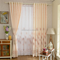 Wooden curtain pole set printed dyeing string curtain