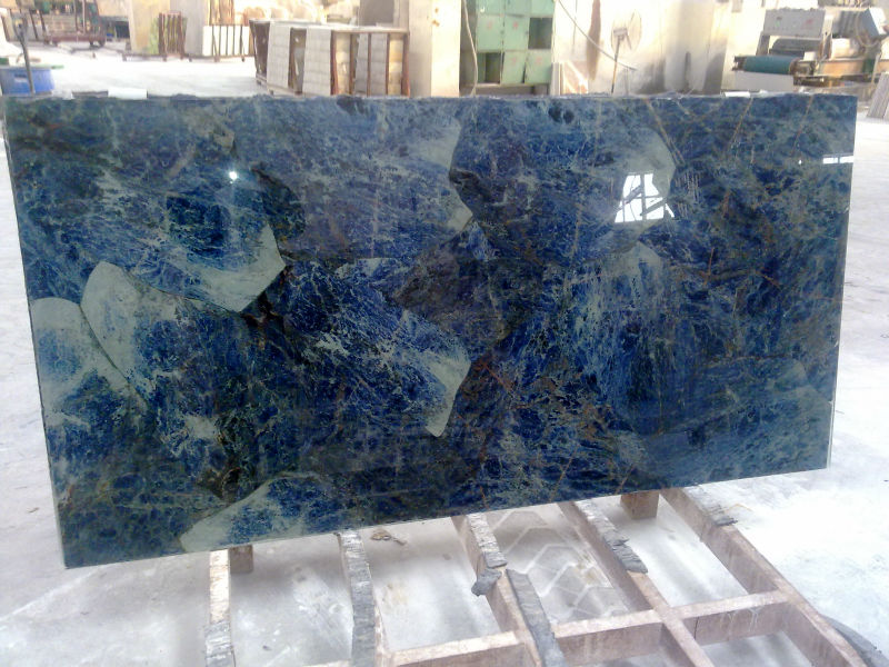 Marmi di carrara azul bahia granite slab countertop buy for Granito azul platino