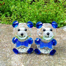 different colour crystal bears for indian wedding return gift