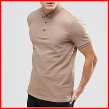 Competitive price men polo shirt ribbed cufs solid custom100% cotton polo t shirt
