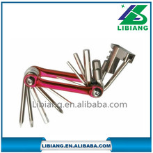 Professional portable multifunction bicycle repair tools with three color