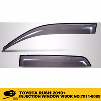 INJECTION DOOR VISOR FOR TOYOTA RUSH 2010+ Window Vent Visor Deflector Rain Guard (Dark Smoke) 4-pc Set