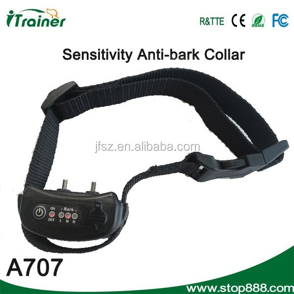 JF-A707 pet agility products,super quality top grade bark stopping collar