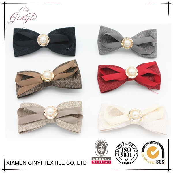 Fashion cheap colorful girls delicate ribbon bows hair pin clips