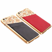 2015 new design smart leather cover case for iphone 6 with back card slot
