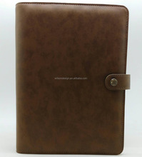 retro brown leather planner notebook cover
